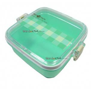 Microwavable Japanese Bento Box Lunch Box Fruit Green